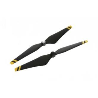 E300 Carbon Fiber Reinforced self-tightening propellers (with yellow stripes)